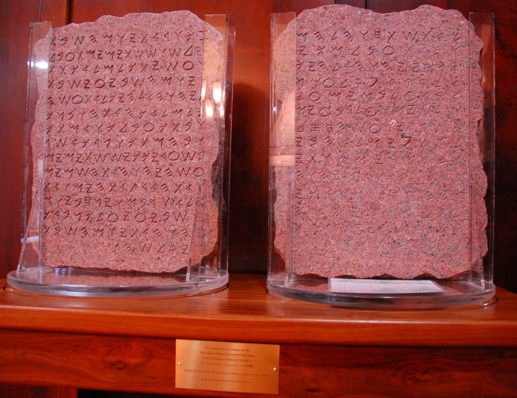 Stone tablets [click if image does not load]